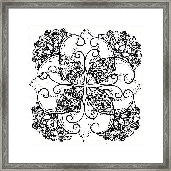 Together We Flourish - Ink Framed Print