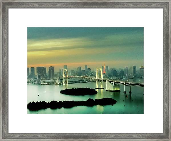 Tokyo Cityscape Framed Print