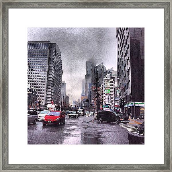 Tokyo Cloudy Framed Print