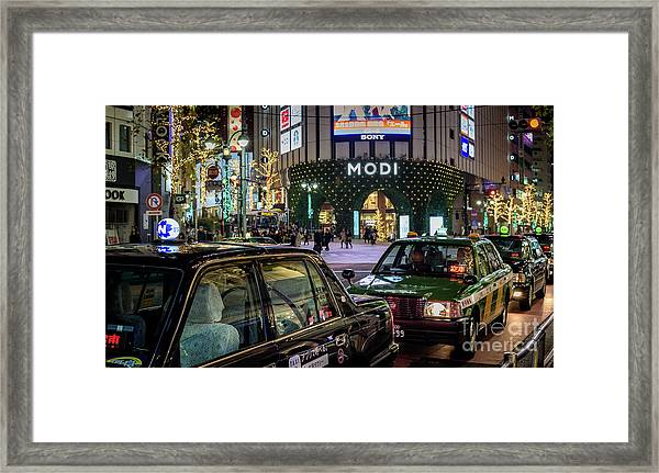 Tokyo Taxis, Japan Framed Print