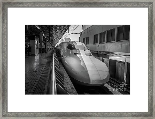 Tokyo To Kyoto Bullet Train, Japan 3 Framed Print
