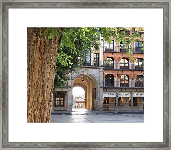 Toledo City Square Framed Print