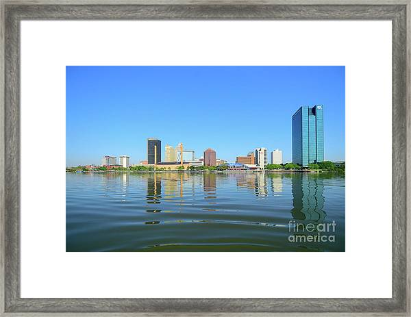 D12u-673 Toledo Ohio Skyline Photo Framed Print