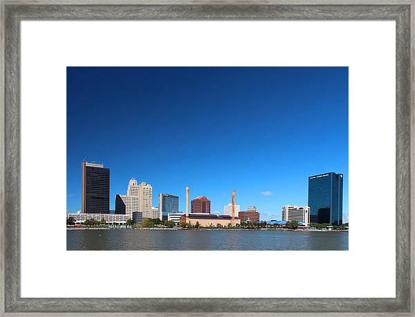 Toledo Skyline I Framed Print