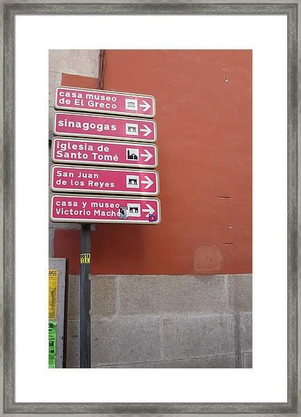 Toledo Street Sign Framed Print