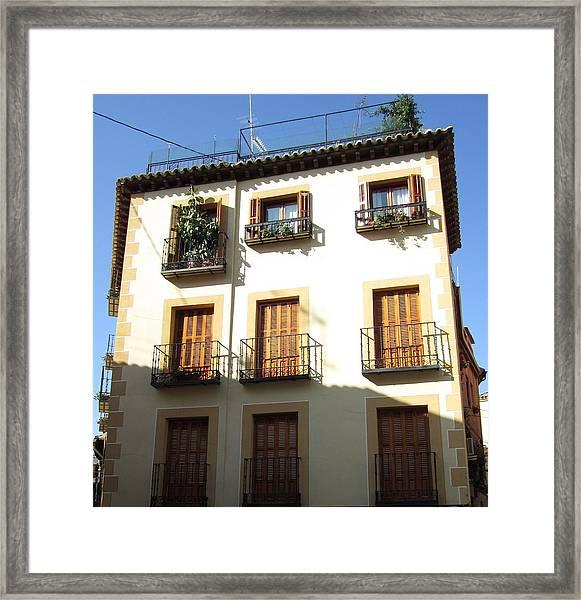 Toledo Vintage Building Framed Print