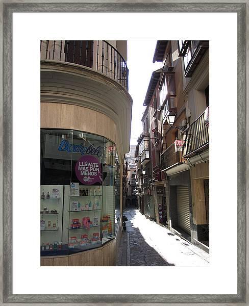Toledo Window Shopping Framed Print