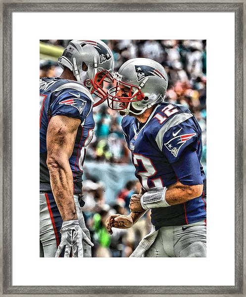 Tom Brady Art 4 Framed Print
