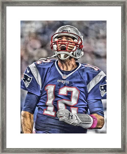 Tom Brady Art 5 Framed Print