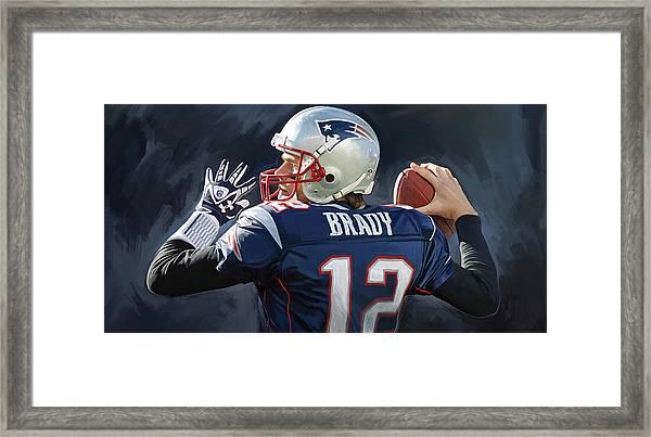 Tom Brady Artwork Framed Print