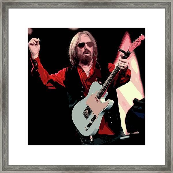 Tom Petty, Hypnotic Eye Framed Print
