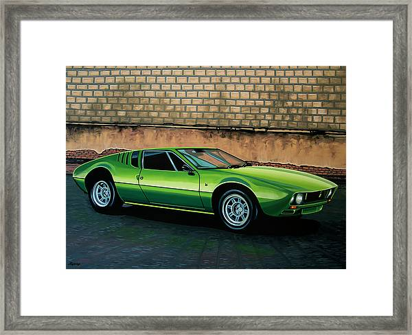 Tomaso Mangusta 1967 Painting Framed Print