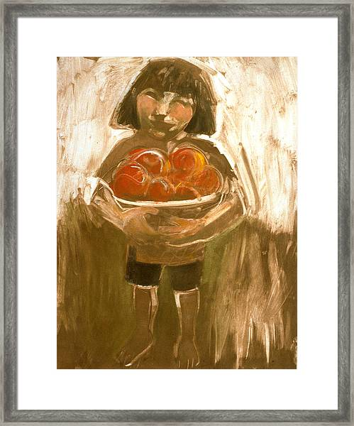 Tomato Girl Framed Print