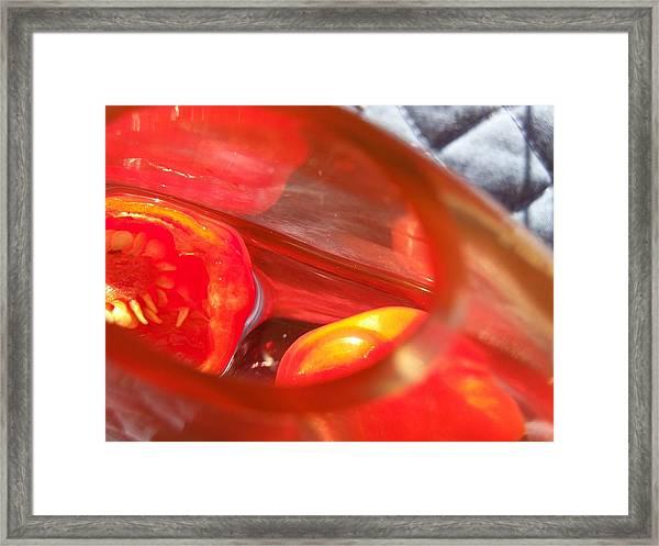 Tomatoe Red Framed Print