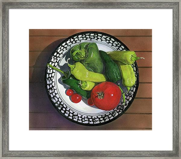 Tomatoes And Peppers  Framed Print