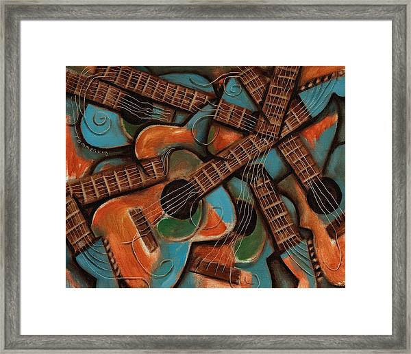 Tommervik Abstract Guitars Art Print Framed Print