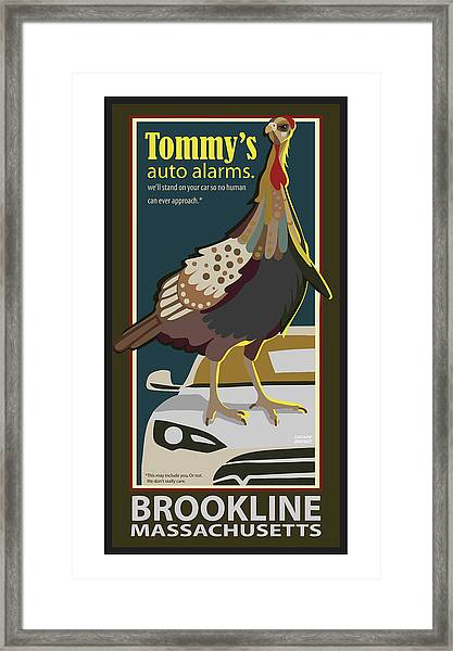 Tommy's Alarms Framed Print