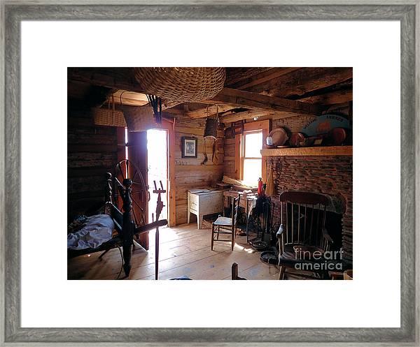 Tom's Old Fashion Cabin Framed Print