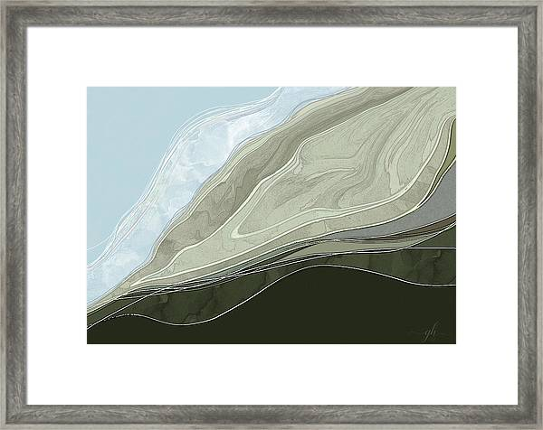 Framed Print featuring the digital art Tone Poem by Gina Harrison