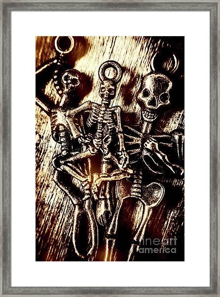 Tones Of Halloween Horror Framed Print