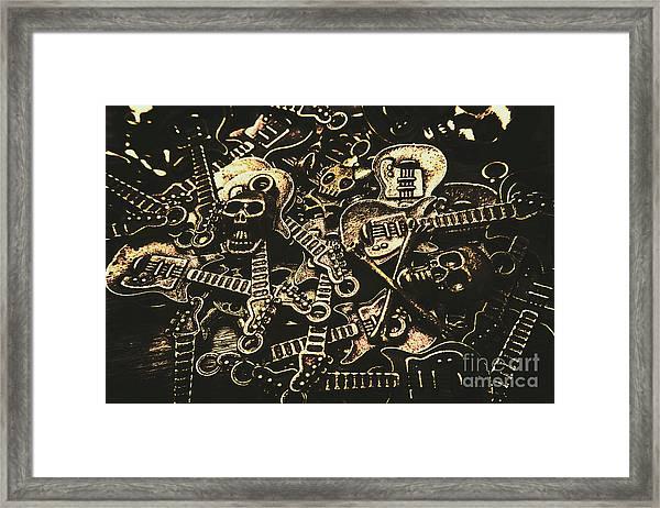 Tones Of Hard Rock Framed Print