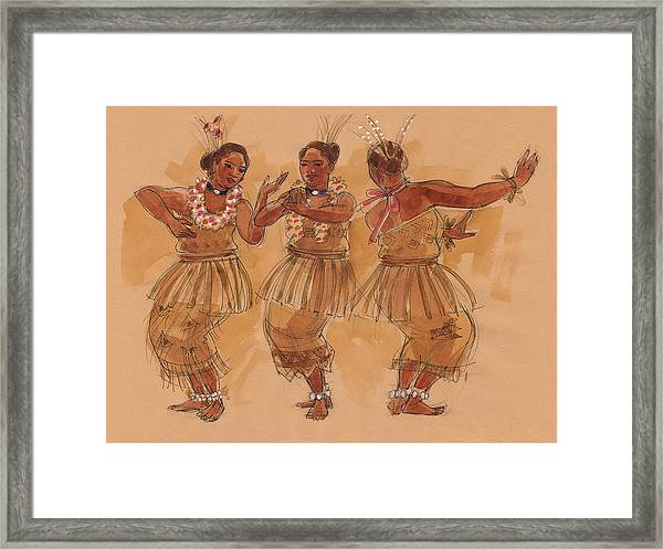 Tonga Dance From Niuafo'ou Framed Print