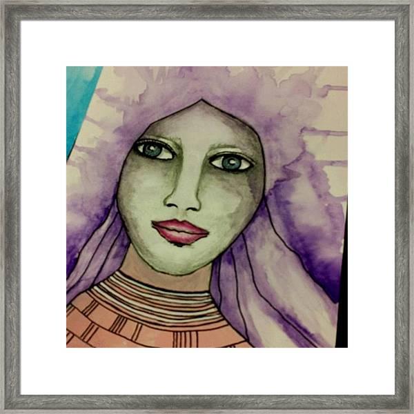 Tonights #face #portrait Framed Print