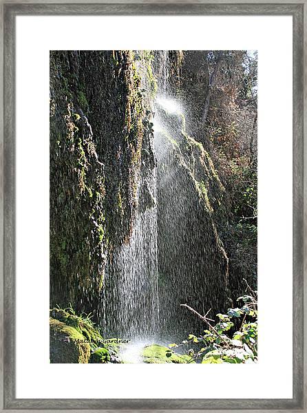 Tonto Waterfall Splash Framed Print