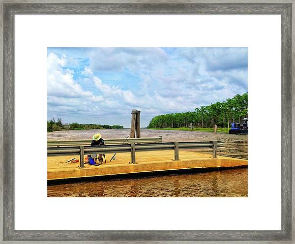Too Hot To Fish Framed Print