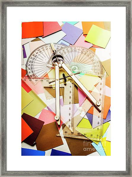 Tools Of Architectural Design Framed Print