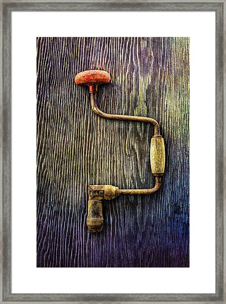 Tools On Wood 58 Framed Print