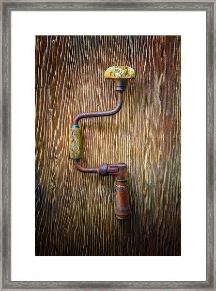 Tools On Wood 61 Framed Print