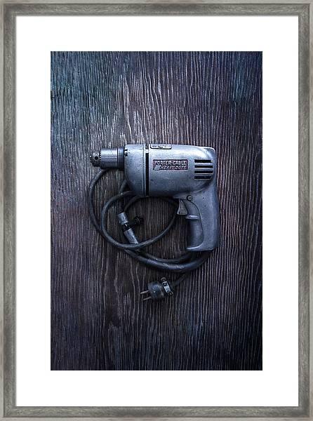Tools On Wood 76 Framed Print