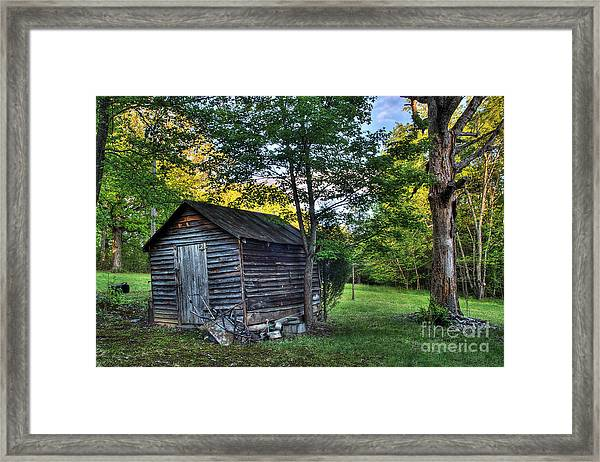 Toolshed Framed Print