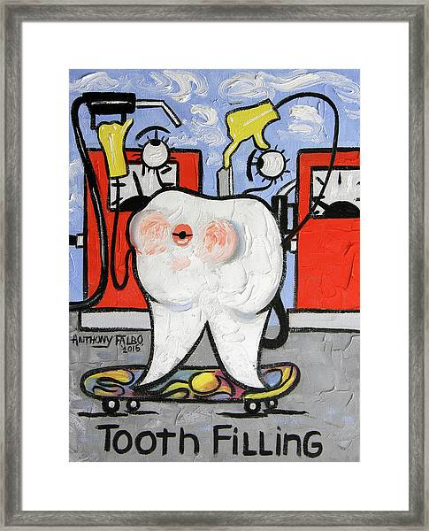 Tooth Filling Framed Print
