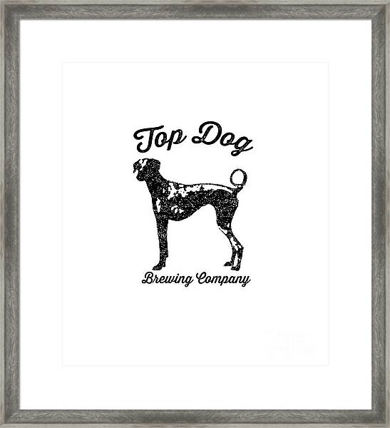 Framed Print featuring the drawing Top Dog Brewing Company Tee by Edward Fielding