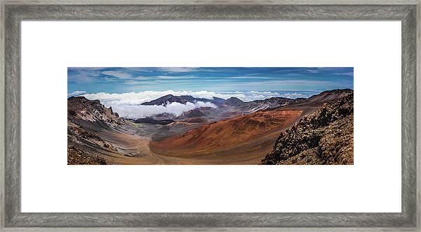 Top Of Haleakala Crater Framed Print