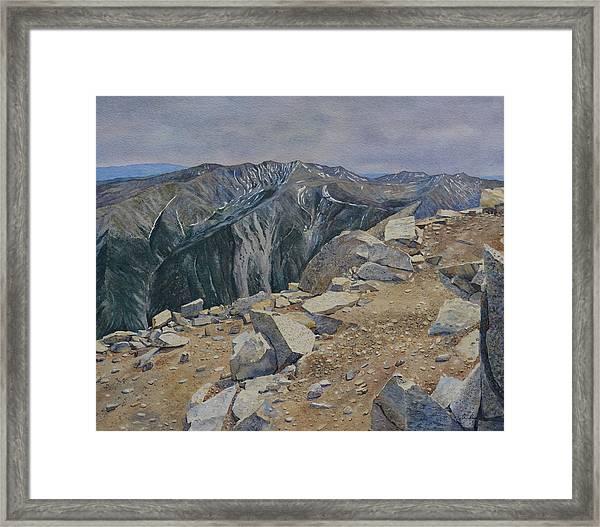 Top Of Mt. Princeton Framed Print