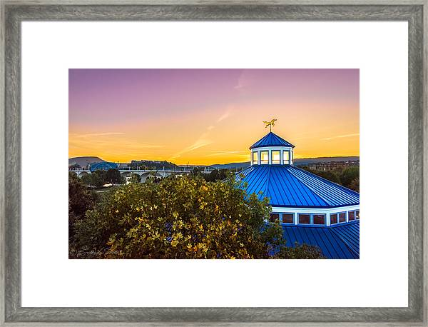 Top Of The Carousel Framed Print