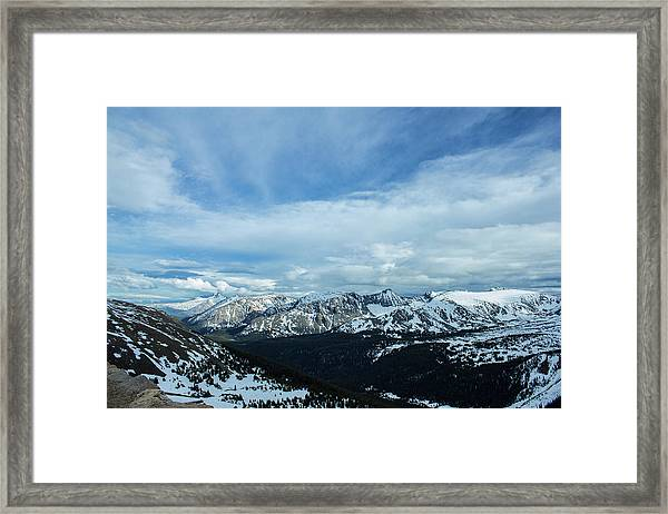 Top Of The Rockies Framed Print