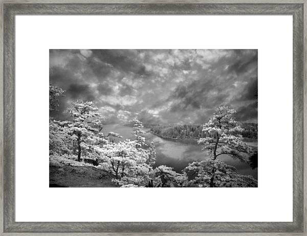 Top Of Tip Toe Mountain, Vinalhaven, Maine Framed Print