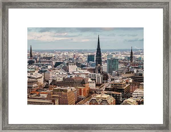 Top View Of Hamburg Framed Print