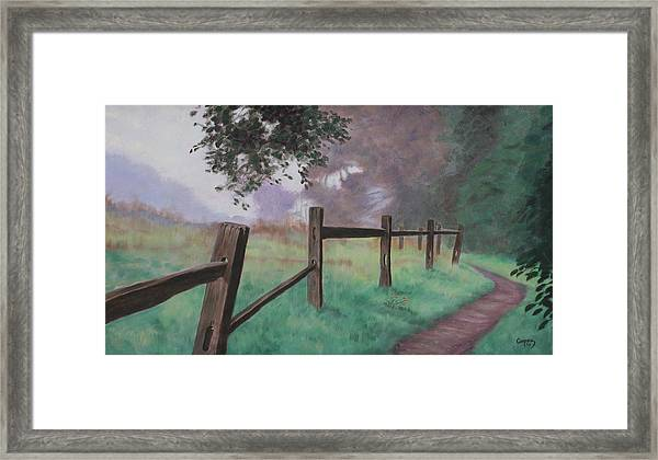 Topanga Morning Framed Print