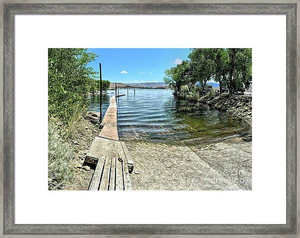 Topaz Landing Boat Launch Framed Print