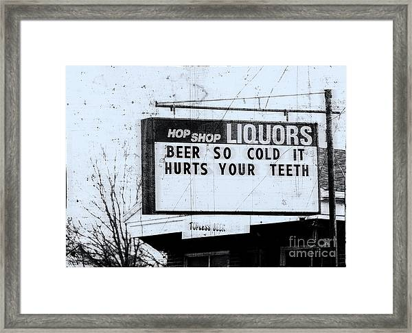 Topless Beer  Framed Print by Steven Digman