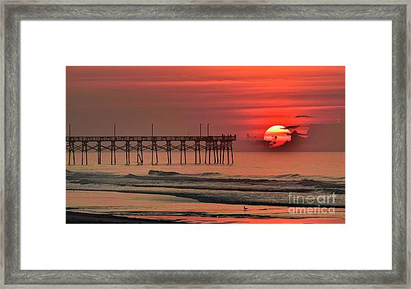 Framed Print featuring the photograph Topsail Moment by DJA Images