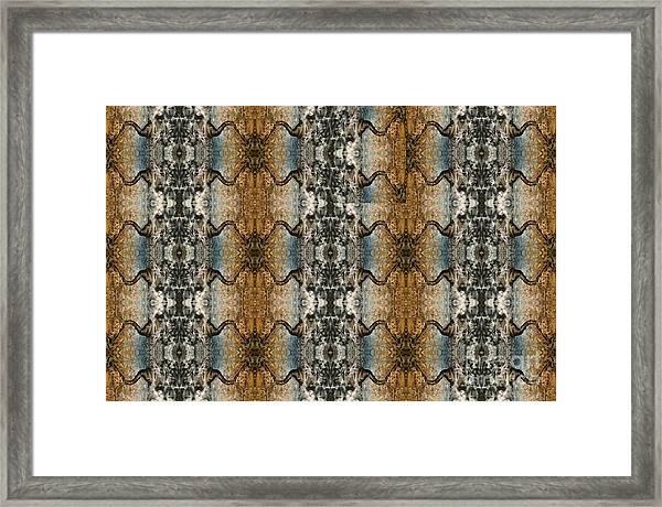 Tornado Pattern Framed Print