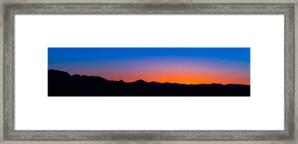 Tornillo Sunset Framed Print