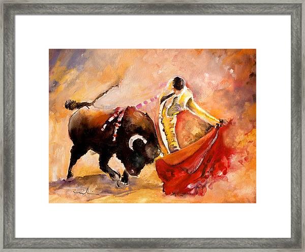 Toro Acuarela Framed Print