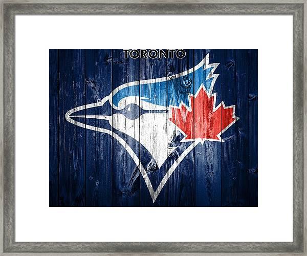 Toronto Blue Jays Barn Door Framed Print
